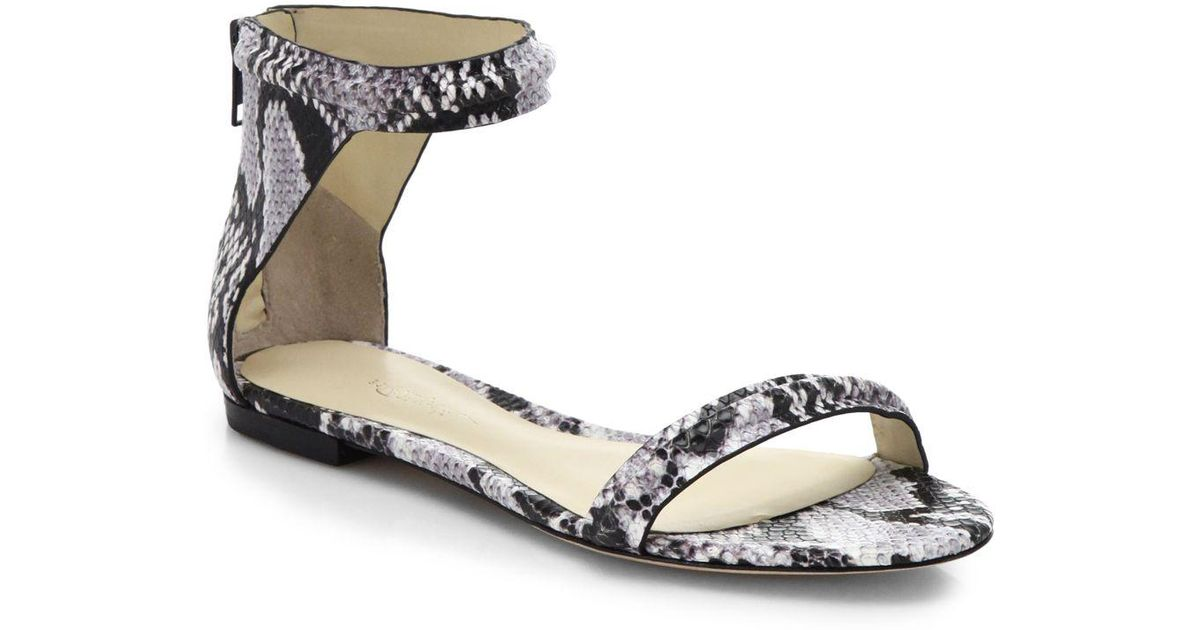 3.1 Phillip Lim Embossed Ankle Strap Sandals cheap sale prices cheap sale collections shop offer for sale exclusive free shipping brand new unisex hZNW2R