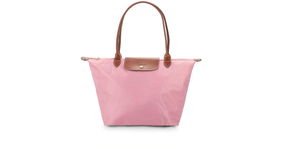 5d811cd7022e Longchamp Le Pliage Medium Nylon Tote in Pink - Save 22% - Lyst