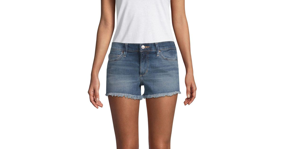 7c2f749ffe089 Joe's Jeans Frayed-hem Denim Shorts in Blue - Lyst