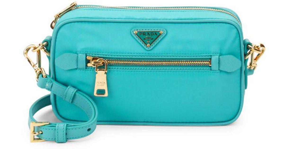 6ad2eb7e0a Lyst - Prada Nylon Crossbody Bag in Blue