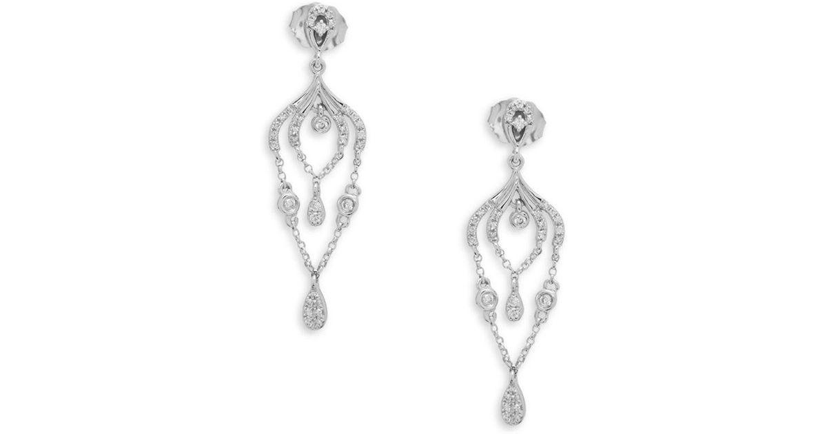 Lyst kc designs 14k white gold diamond chandelier earrings in metallic aloadofball Choice Image