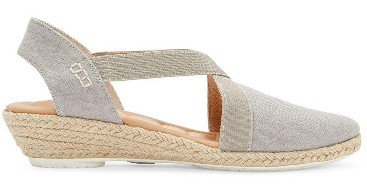 a63ca9ea917 Me Too - Gray Nissa Espadrille Wedge Sandals - Lyst