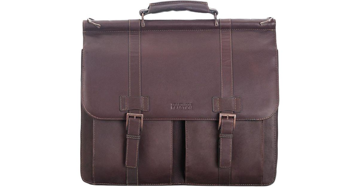 afd0ec560 Lyst - Kenneth Cole Leather Dowel Bag in Brown for Men