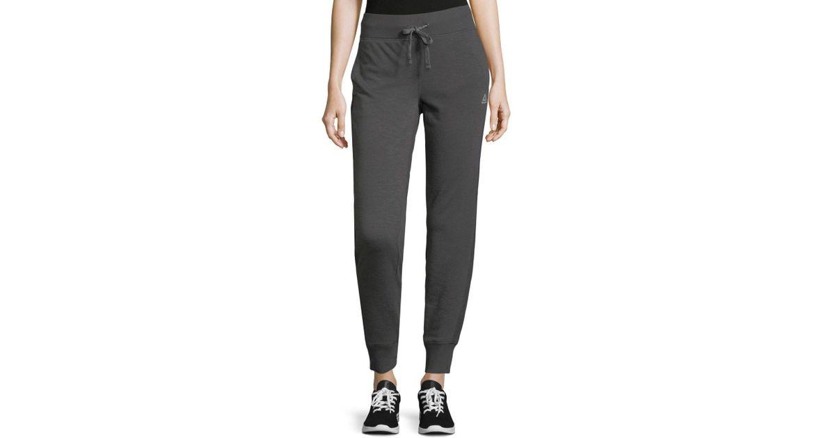 4a664e08f3d Reebok Sport Drawstring Jogger Pants in Gray - Lyst