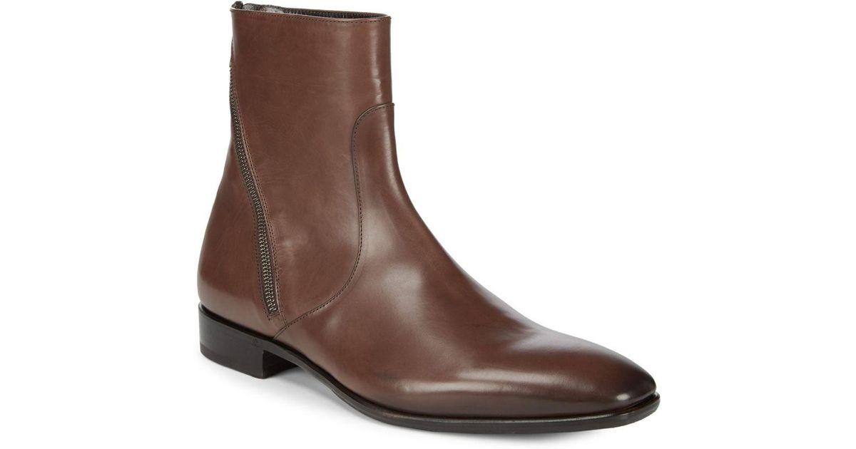 Roberto Cavalli Leather Boots ZSB2TB2CAD
