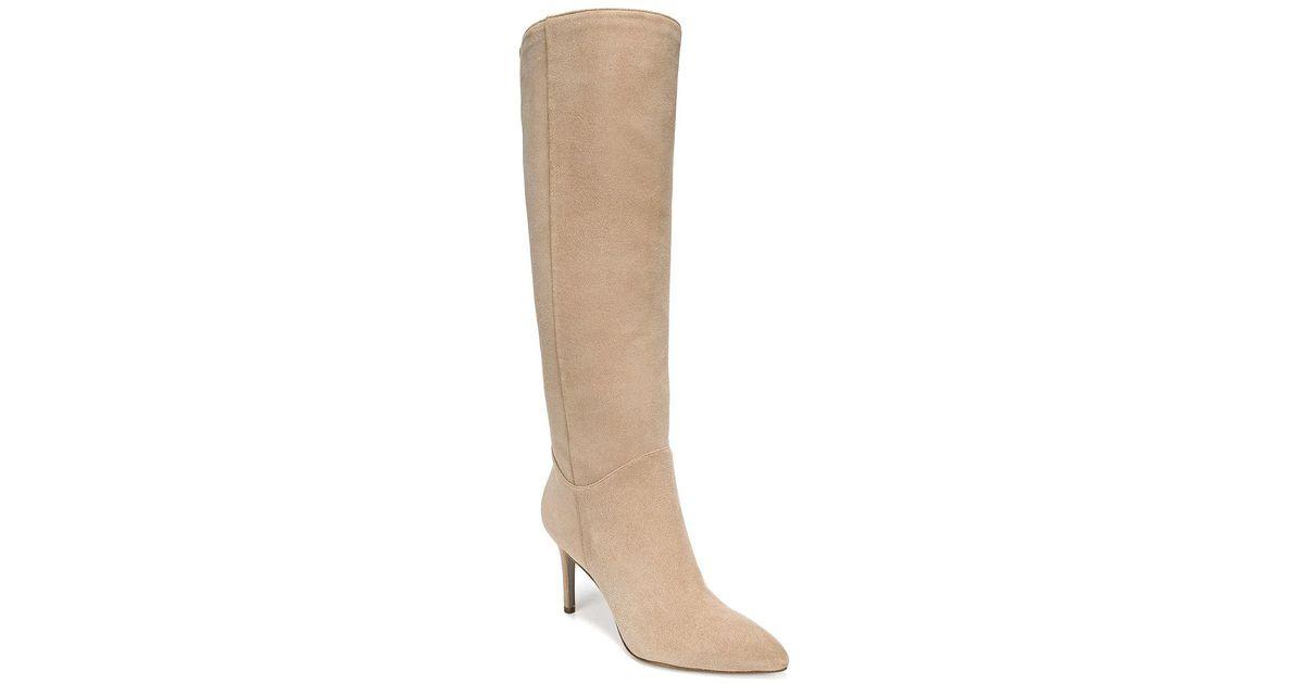 b98f81f76cc Lyst - Sam Edelman Olen Suede Knee-high Boots in Natural