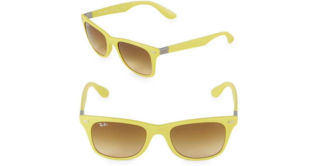 6e9bb15d0d Lyst - Ray-Ban 52mm Thick Square Sunglasses in Yellow