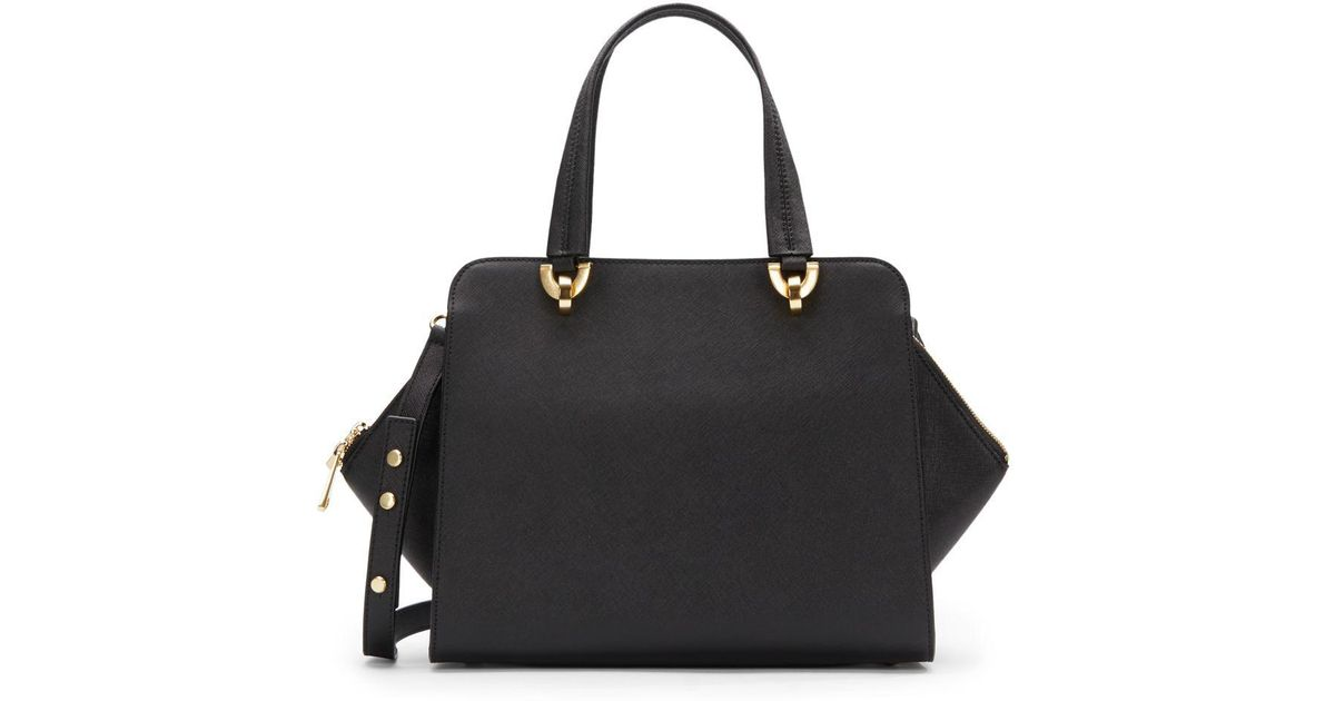 103fff0a10a9 designer fashion d1348 baa74 Zac Zac Posen Saffiano Leather Shoulder Bag in  Black - Lyst ...