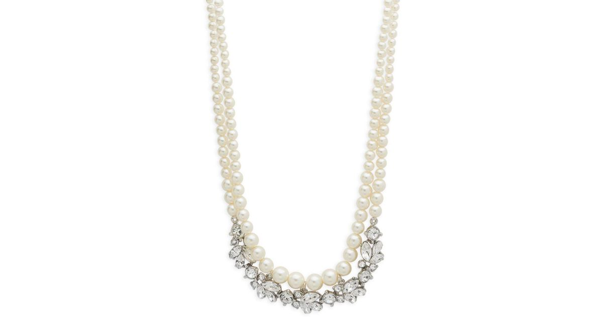 Ben-Amun Two-Row Pearly Beaded Necklace LZLhh5eq