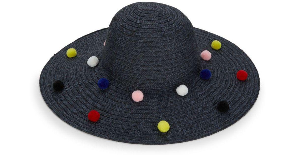 a92ca45bf47ada Lyst - BCBGeneration Funfetti Pom-pom Sun Hat in Black