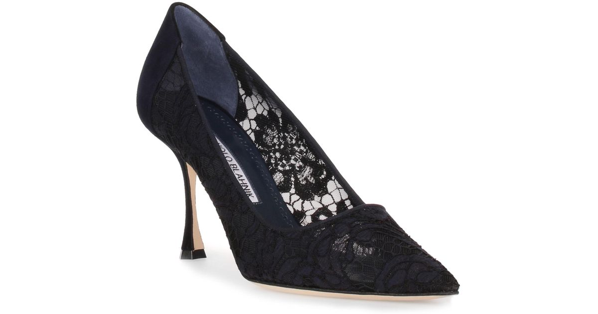 Sophia 90 navy lace pump Manolo Blahnik Outlet Inexpensive Visa Payment Cheap Online Buy Cheap Choice With Mastercard Sale Online 87gXjpkR