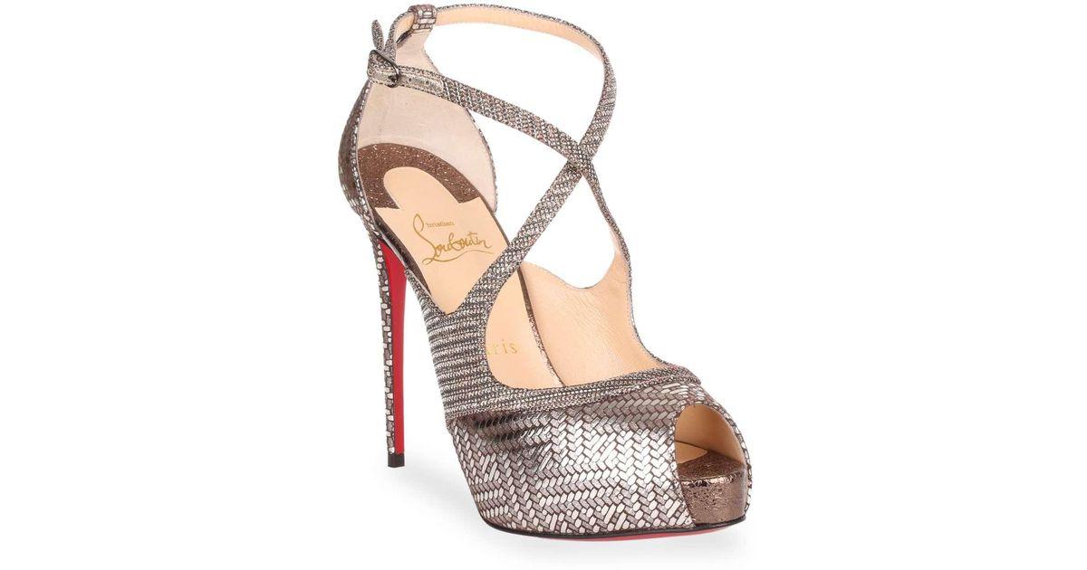 Mira Bella 120 metallic sandal Christian Louboutin HpRUcHVEf