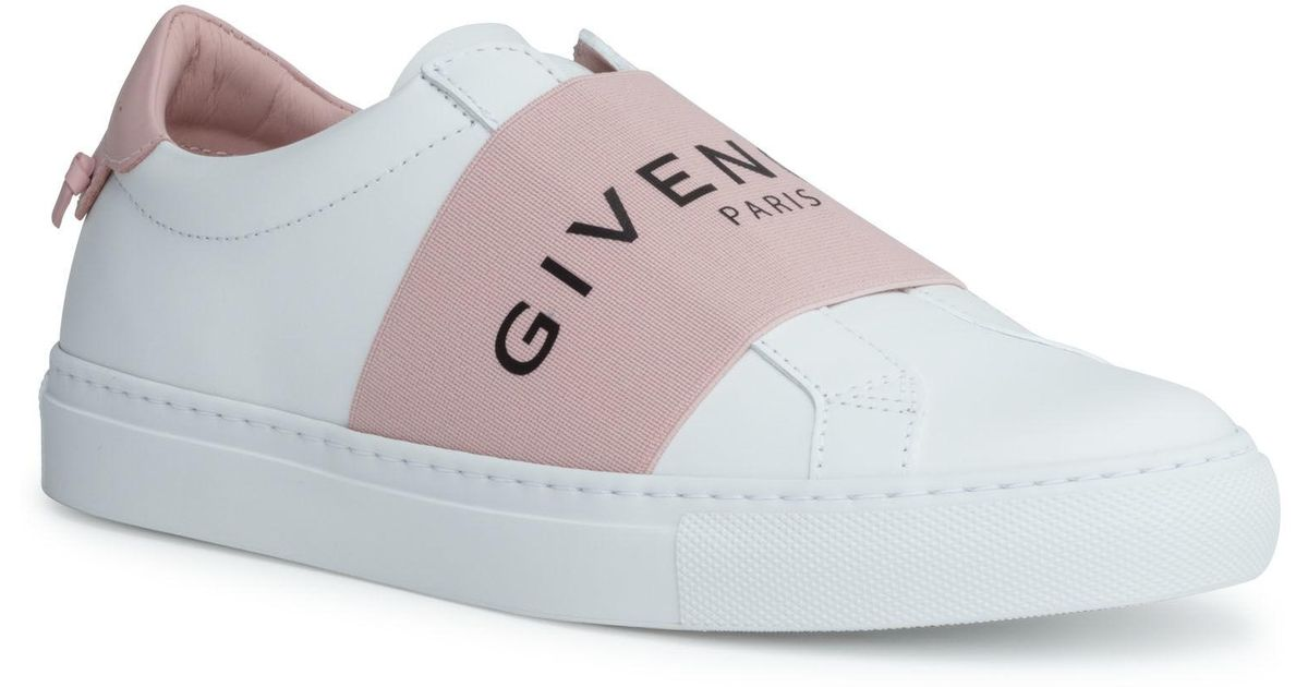 d4b0d83da Givenchy Urban Street White And Pink Logo Sneakers - Lyst