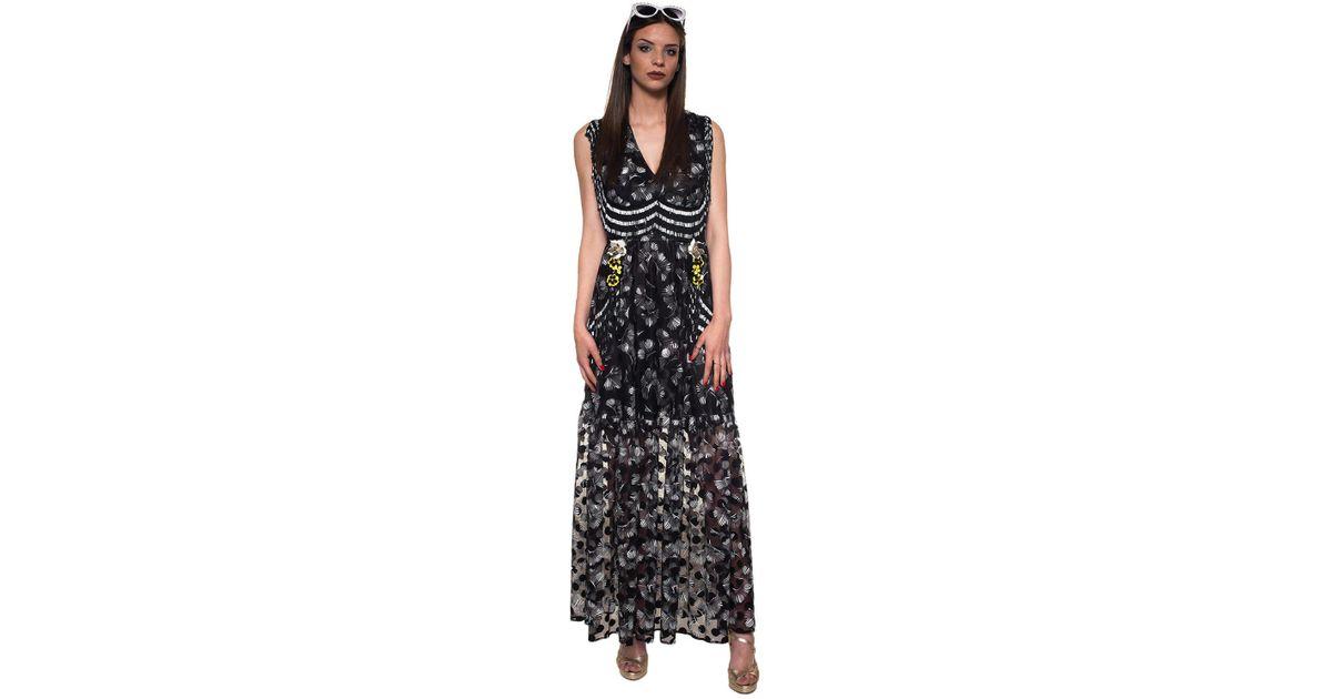 Lyst - Class Roberto Cavalli Evening Gown in Black