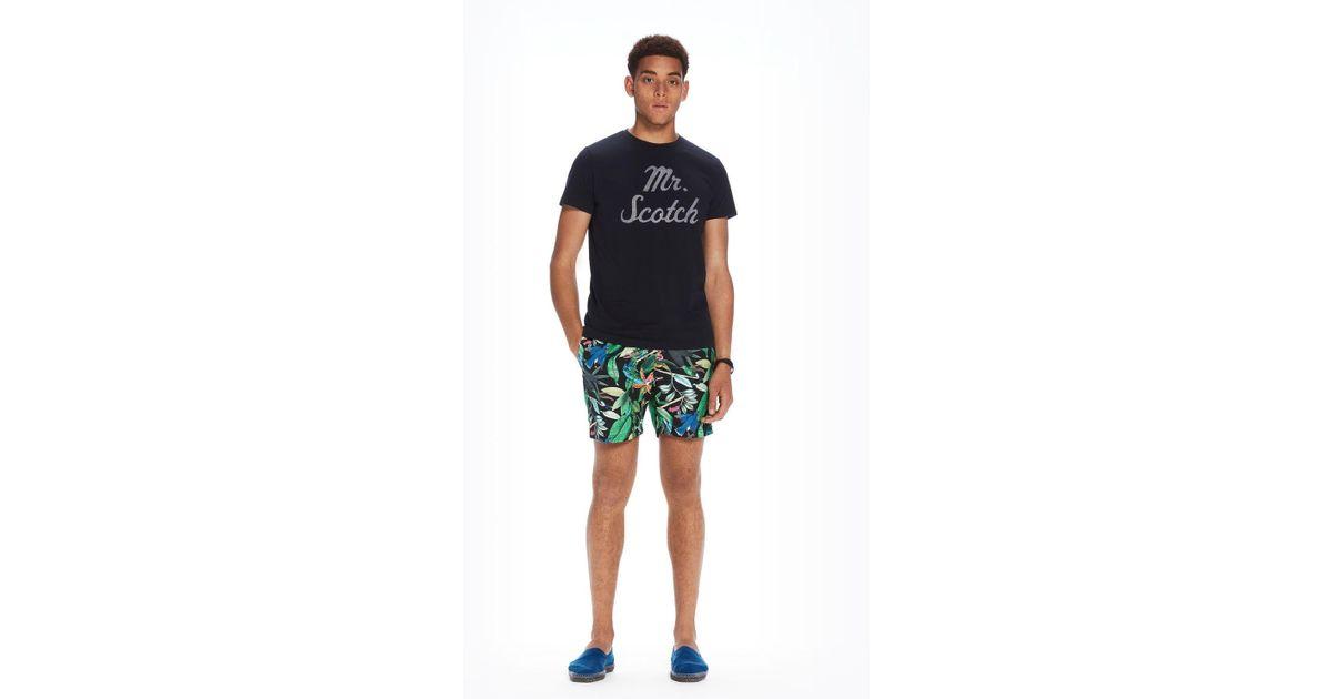 7e8905b570 Scotch & Soda All-over Printed Swim Shorts Medium Length in Blue for Men -  Lyst