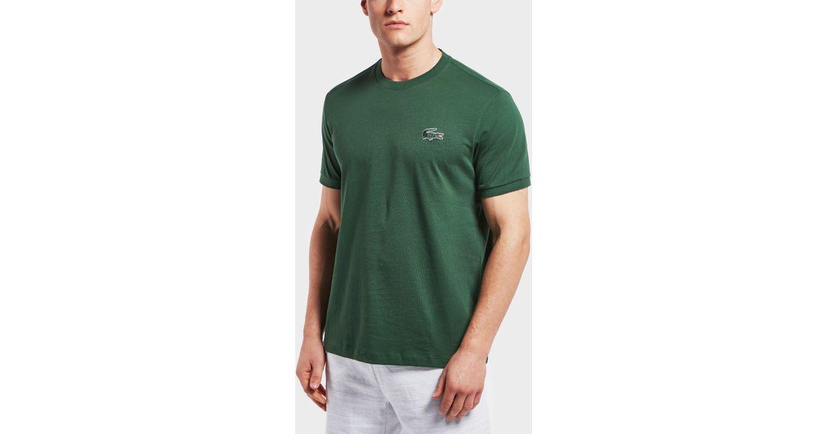 1cd6595b0 Lacoste Big Croc Logo Short Sleeve T-shirt in Green for Men - Lyst