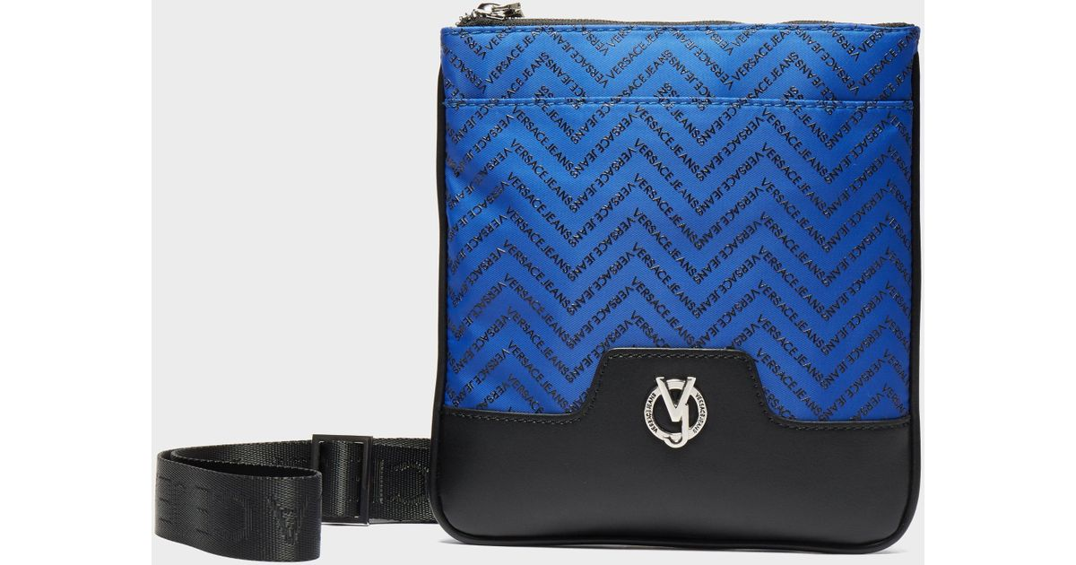 61b96b907621 Lyst - Versace Jeans Linea Chevron Small Item Bag in Blue for Men