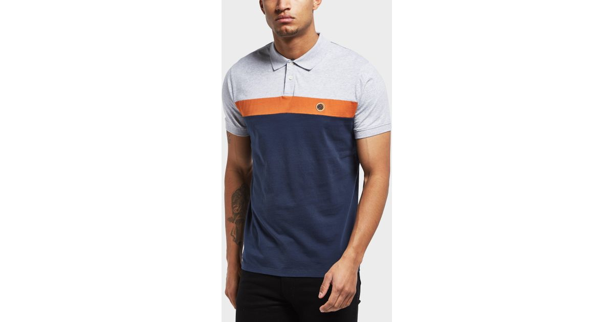 93dbe396 Pretty Green Frequency Short Sleeve Polo Shirt in Blue for Men - Lyst