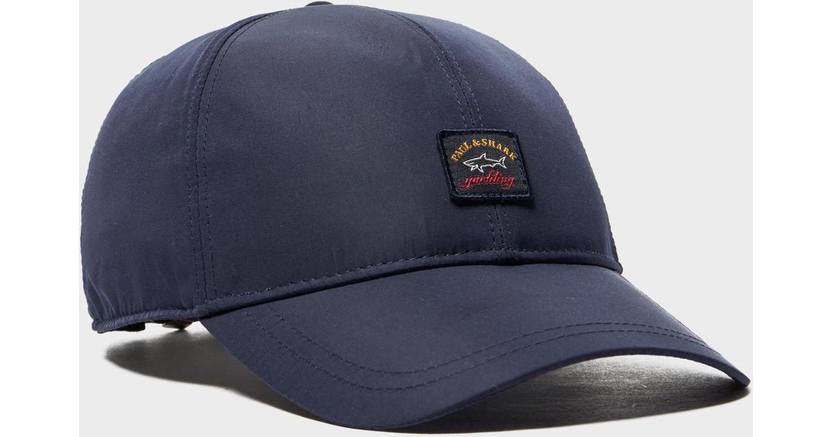 Paul   Shark Nylon Logo Cap in Blue for Men - Lyst e61d0be7f1b3