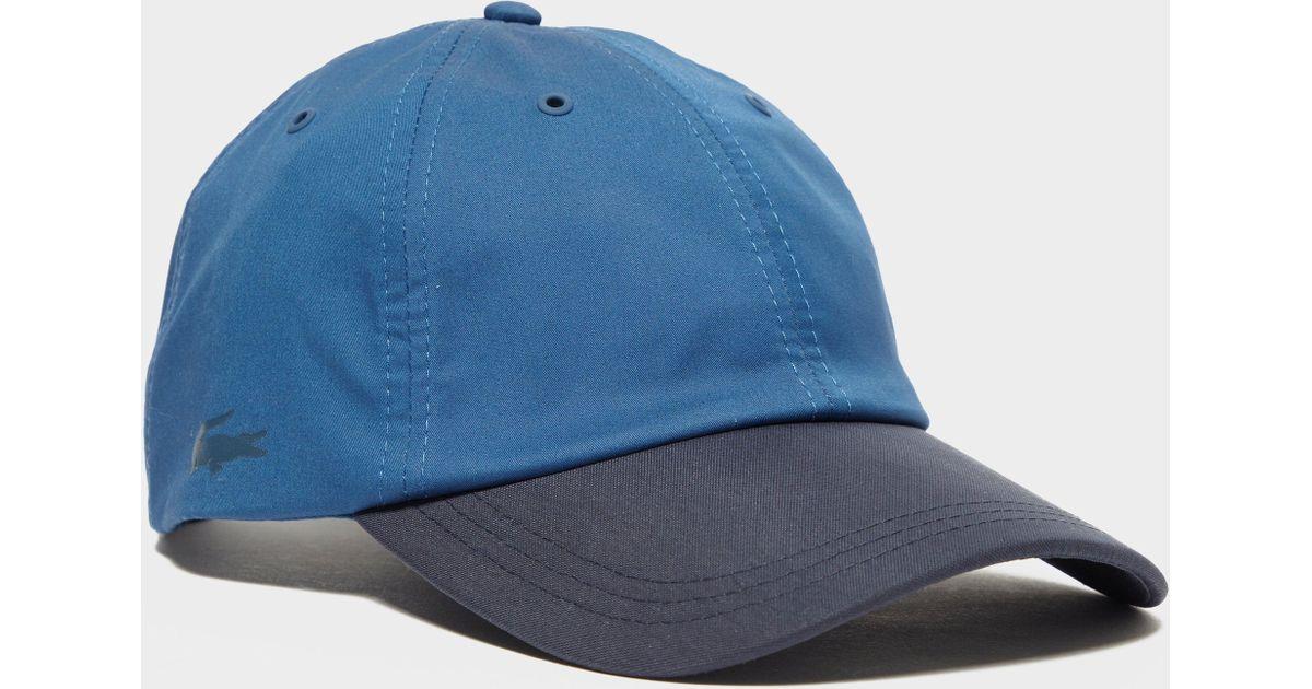 bdc37def730 Lyst - Lacoste Tonal Poly Cap in Blue for Men