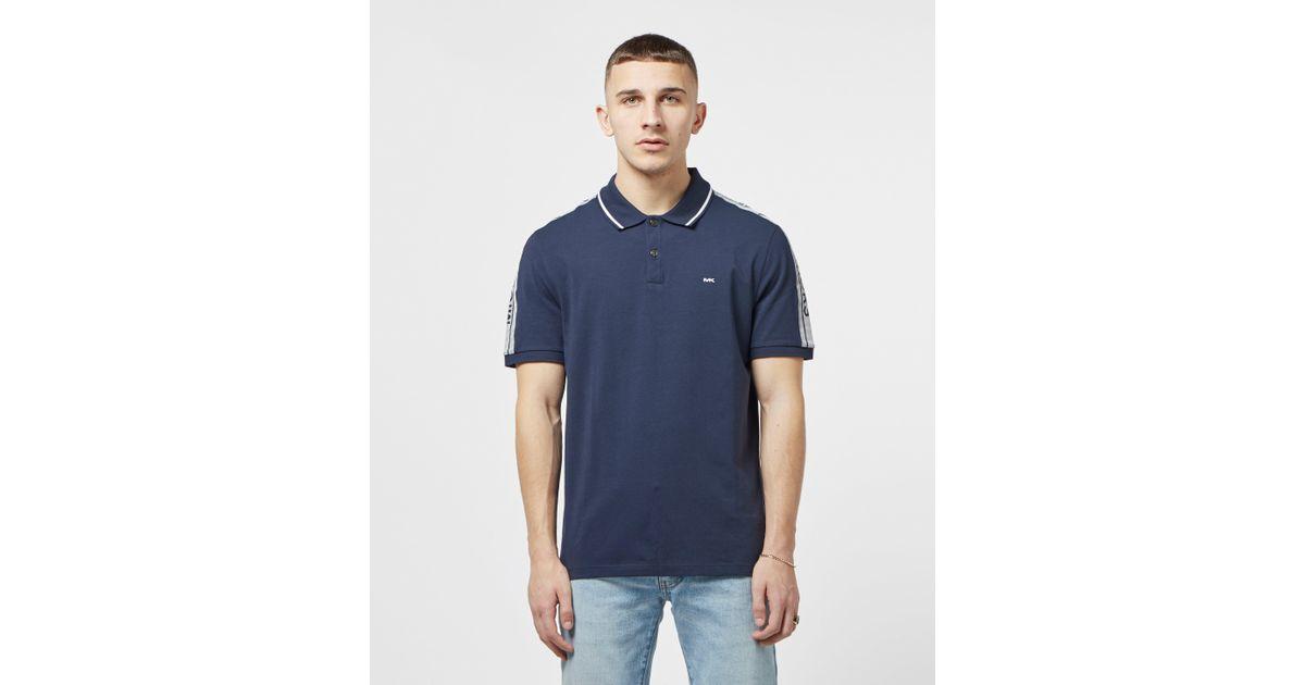 be08cc3f Michael Kors Tape Shoulder Short Sleeve Polo Shirt in Blue for Men - Lyst
