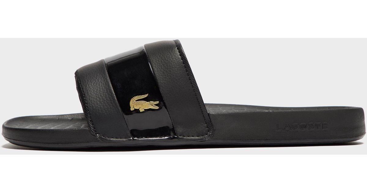 8be4fdf8623d Lyst - Lacoste Fraisier 118 Slide Sandal in Black for Men - Save 33%