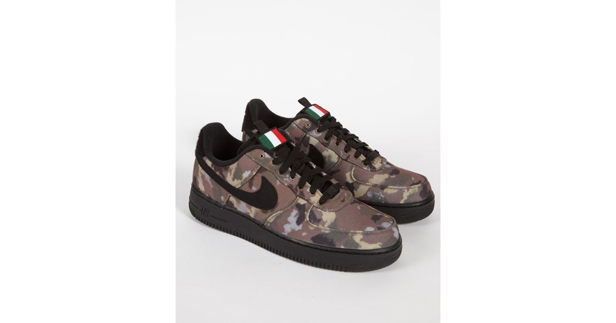 18384cd19d3 Lyst - Nike Air Force 1  07 Low  country Camo  Italy in Brown for Men