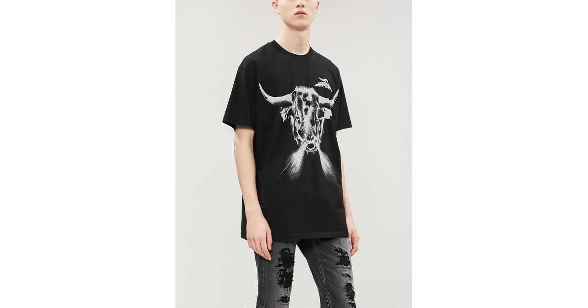 d12395ebe0931 Givenchy Oversized Printed Cotton-jersey T-shirt in Black for Men - Save  61% - Lyst