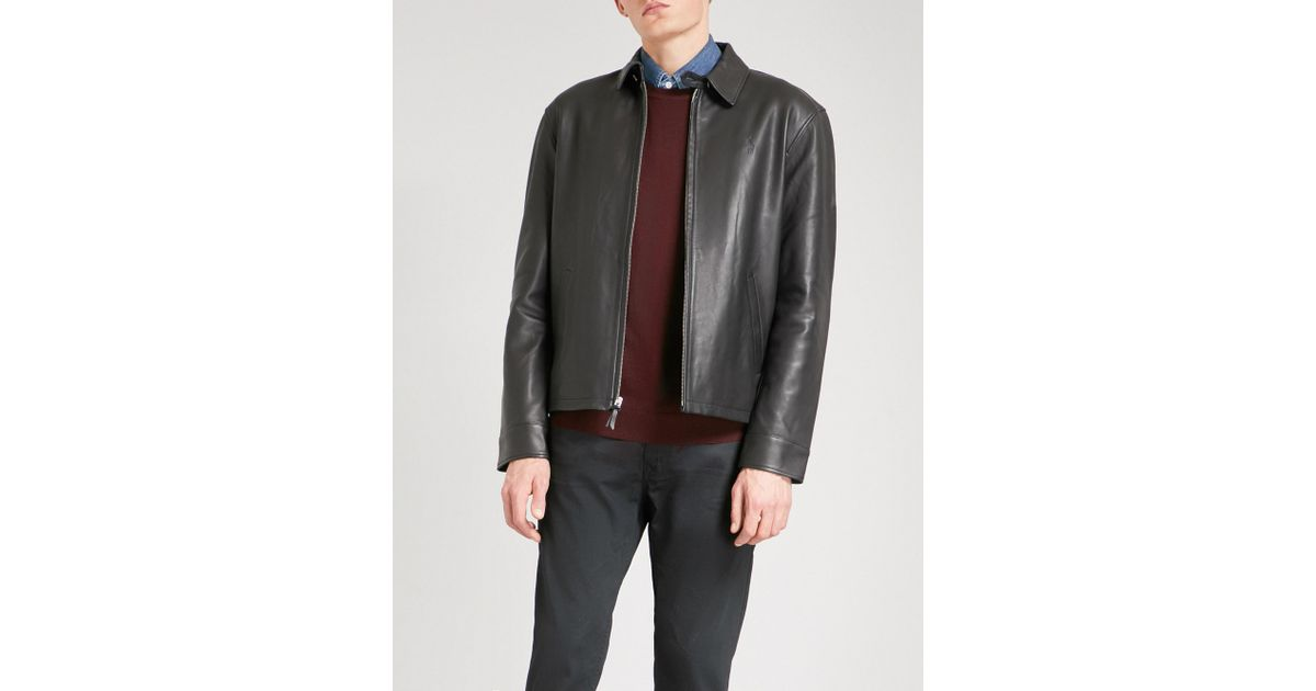 d021f22d6 Polo Ralph Lauren Maxwell Leather Jacket in Black for Men - Lyst