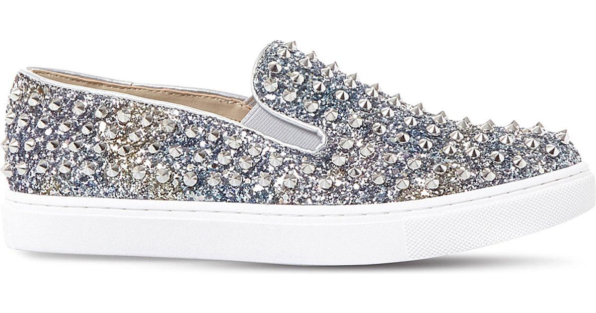 1ad56fb4903 Lyst - Steve Madden Emmmaa-s Studded Glitter Skate Shoes