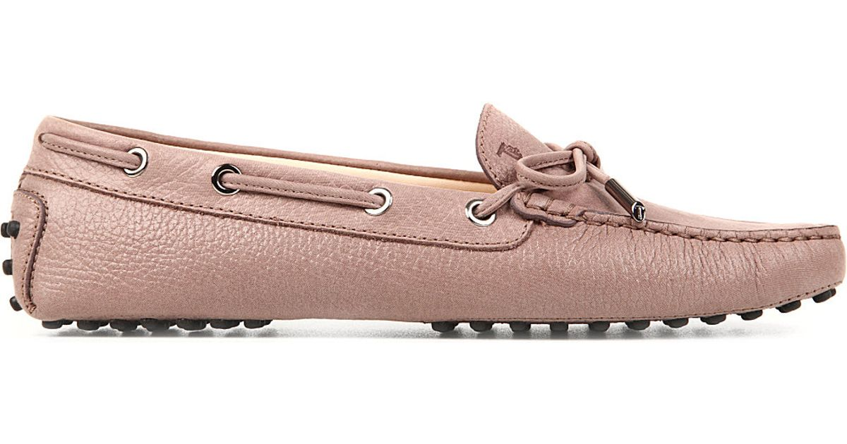 07800db6597 Lyst - Tod s Gommino Heaven Driving Shoes In Leather in Pink