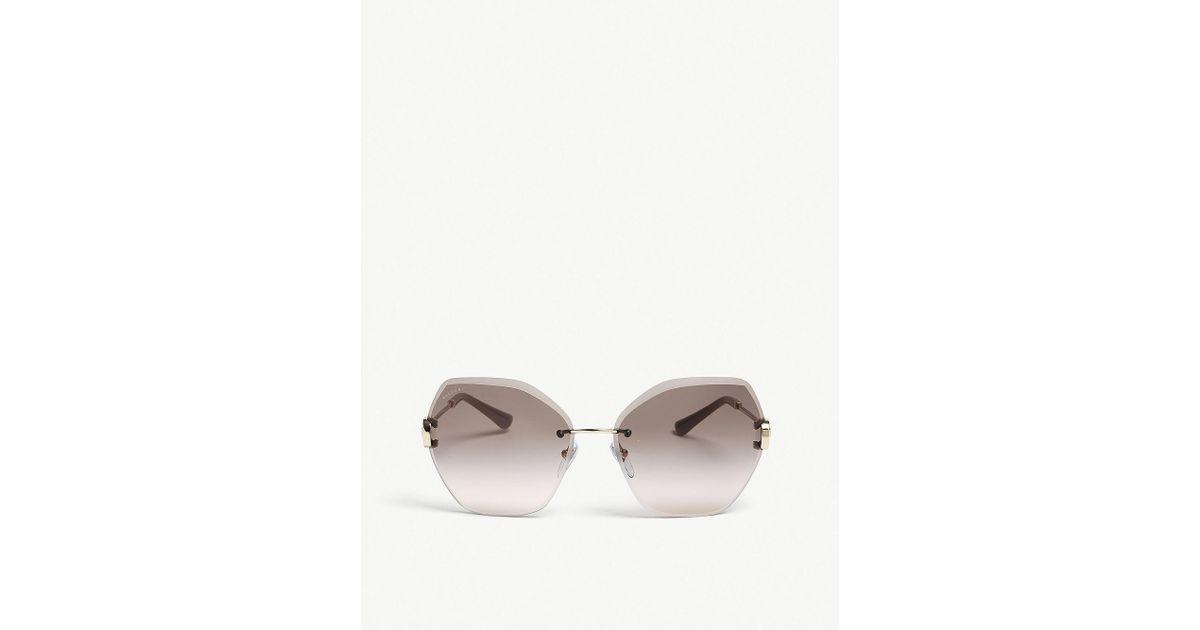 Sunglasses Luxury In Square Bv6105b Gold Bvlgari Ladies Frame OPq4YE6w