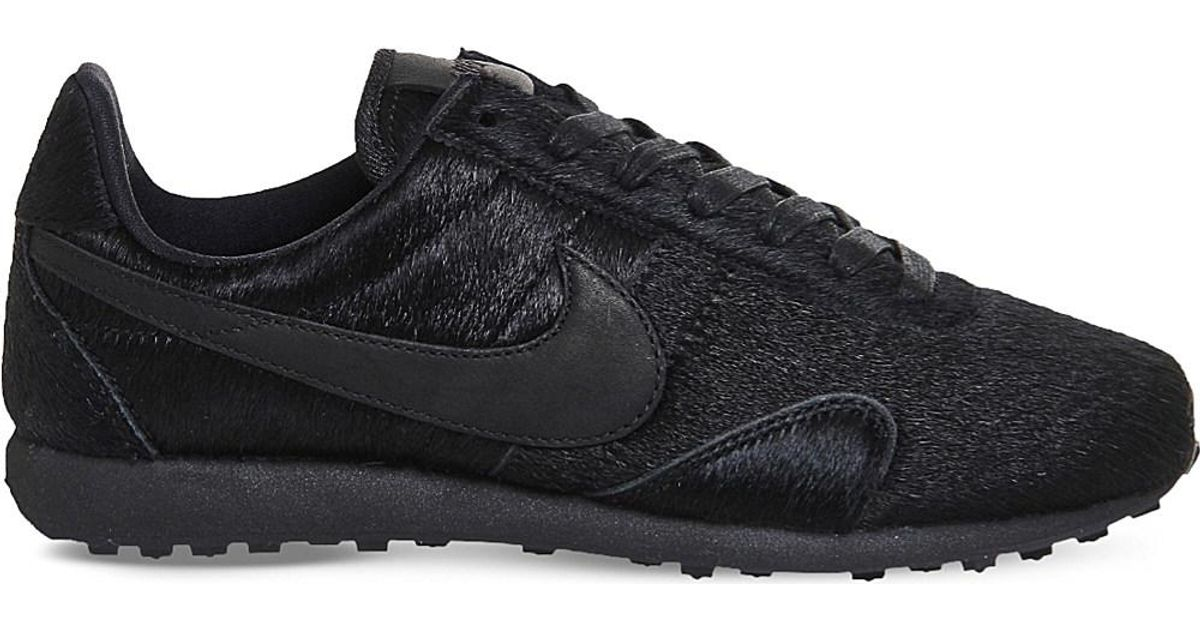 Lyst - Nike Pre Montreal Racer Pony-hair Leather Trainers in Black for Men