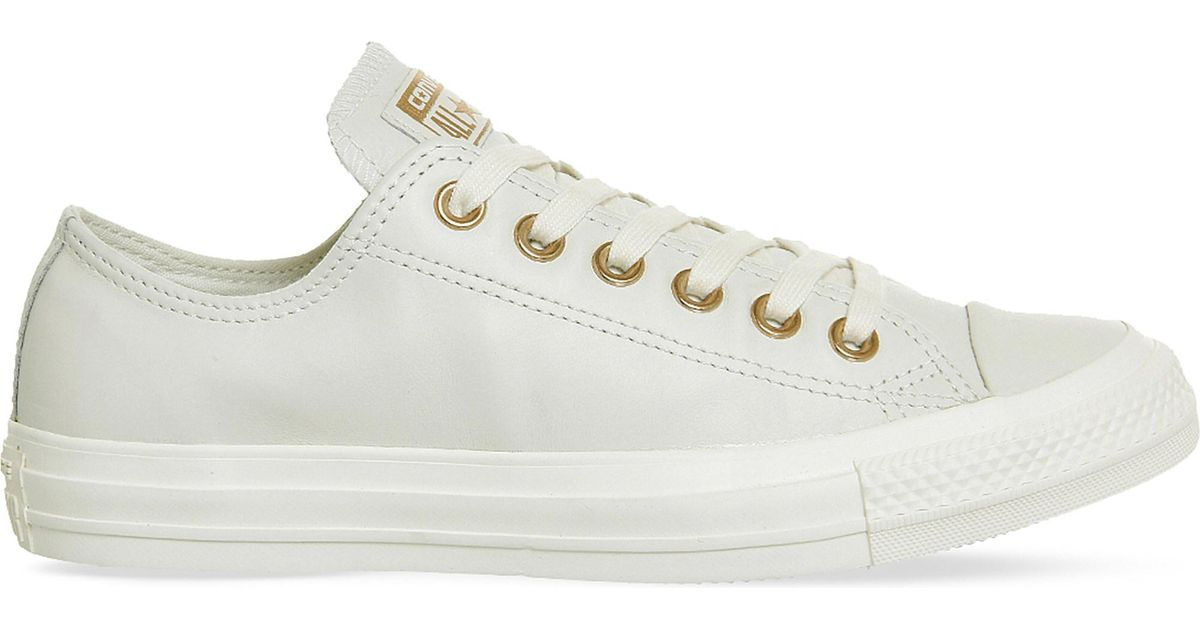 d28785aa9e7e Lyst - Converse All Star Low-top Leather Trainers in White