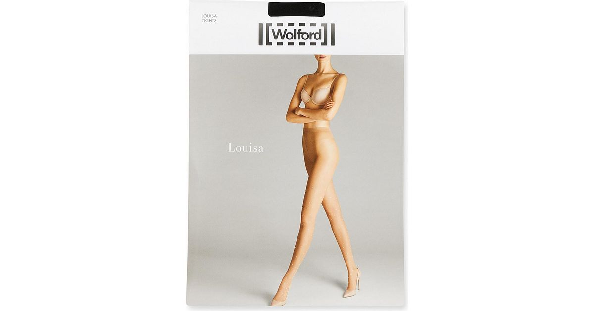 5dec3609047af Wolford Louisa Pearl-studded Tights - Lyst