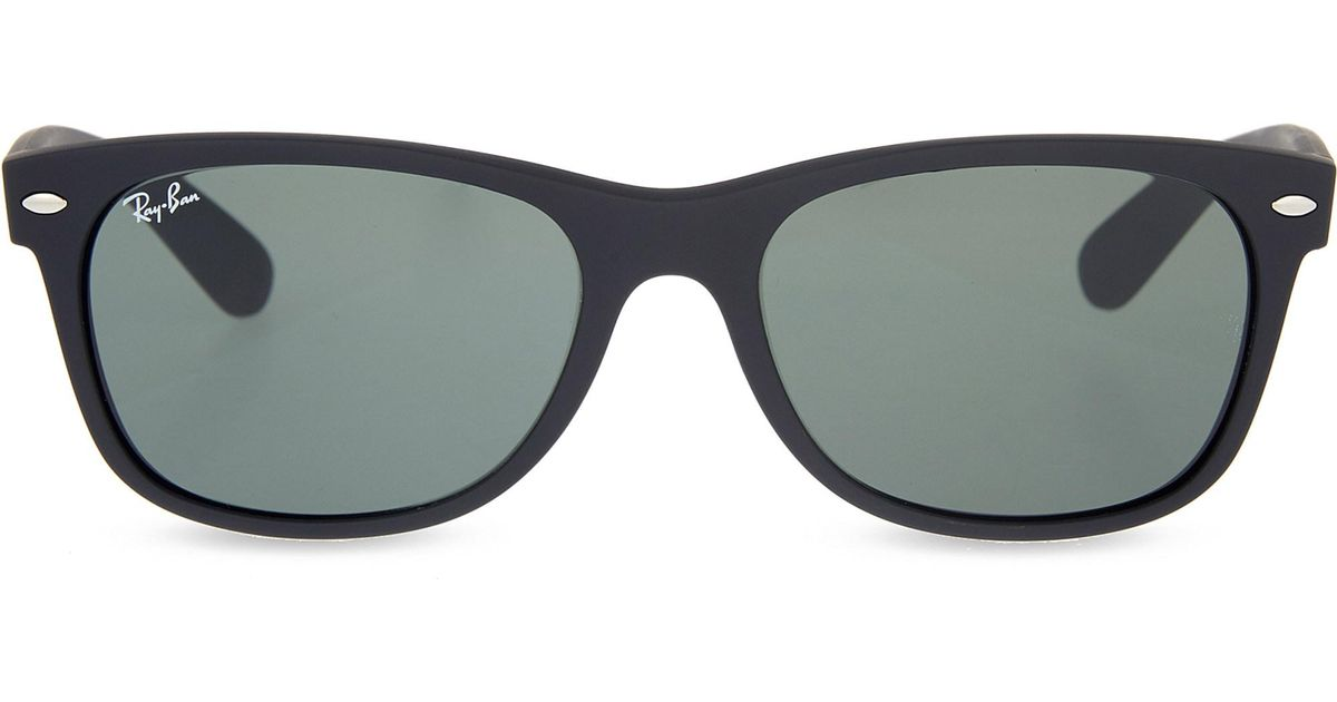 7a9120a0f48 Lyst - Ray-Ban Rb3132 New Wayfarer Sunglasses in Black - Save  41.968911917098445%