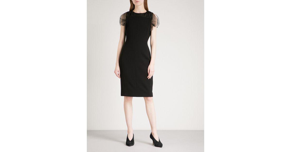 Lyst Max Mara Elegante Katana Silk Crepe Dress In Black
