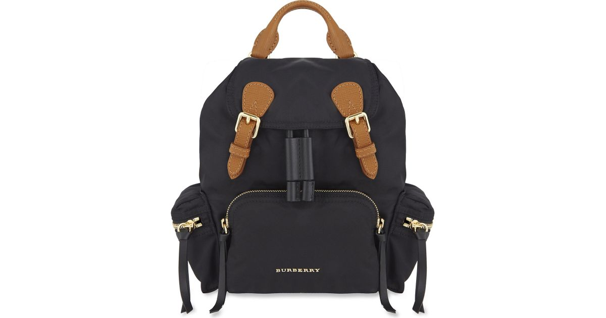 1bf1f6151389 Burberry Small Nylon Backpack in Black - Lyst