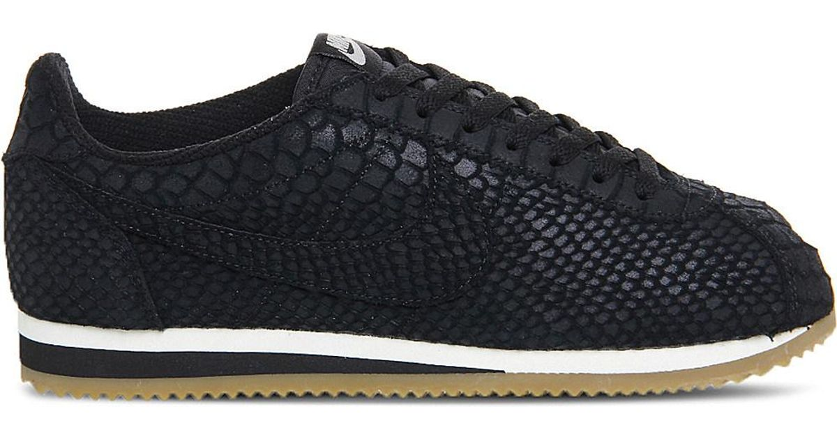 huge selection of cf25f b3337 Nike Classic Cortez Og Reptile-effect Trainers in Black - Lyst