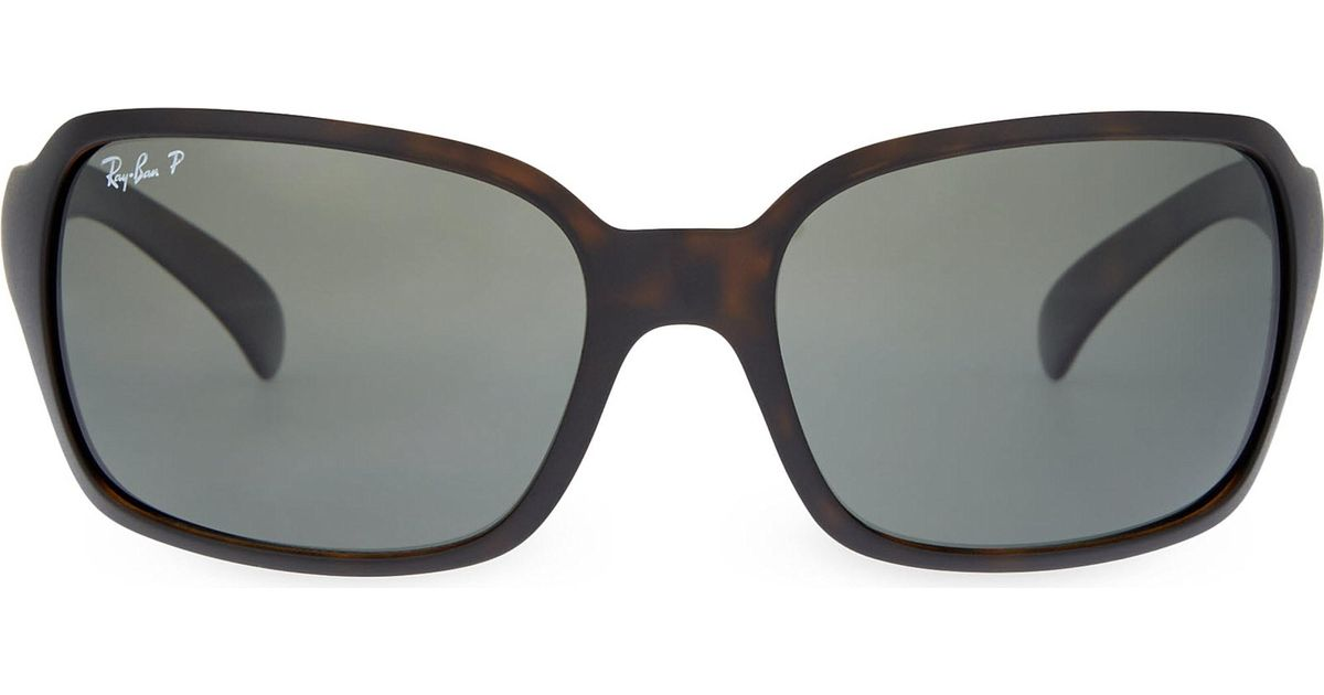 9e60b45ee18 Ray-Ban Rb4068 Square Sunglasses in Black - Lyst