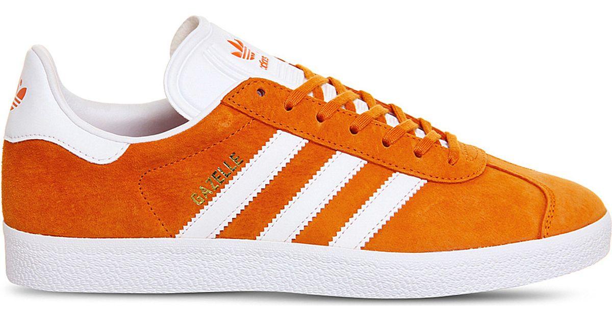 size 40 08f11 d48dc Lyst - adidas Originals Gazelle Suede Trainers in Orange for Men