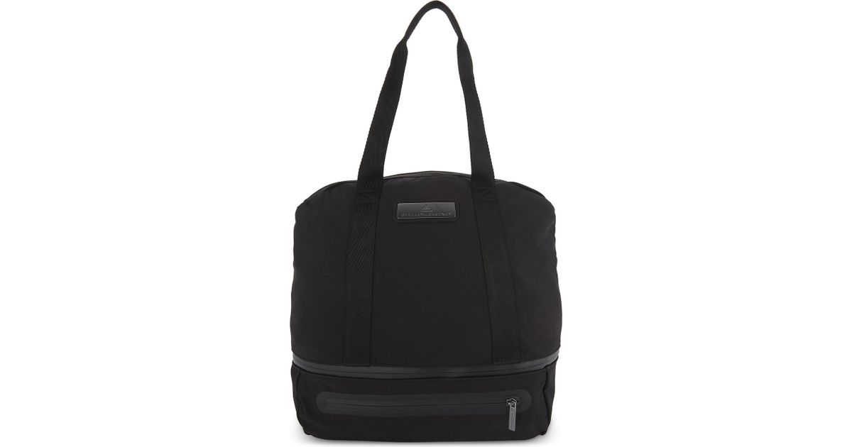 6f196065ef Lyst - adidas By Stella McCartney Iconic Nylon Duffle Bag in Black