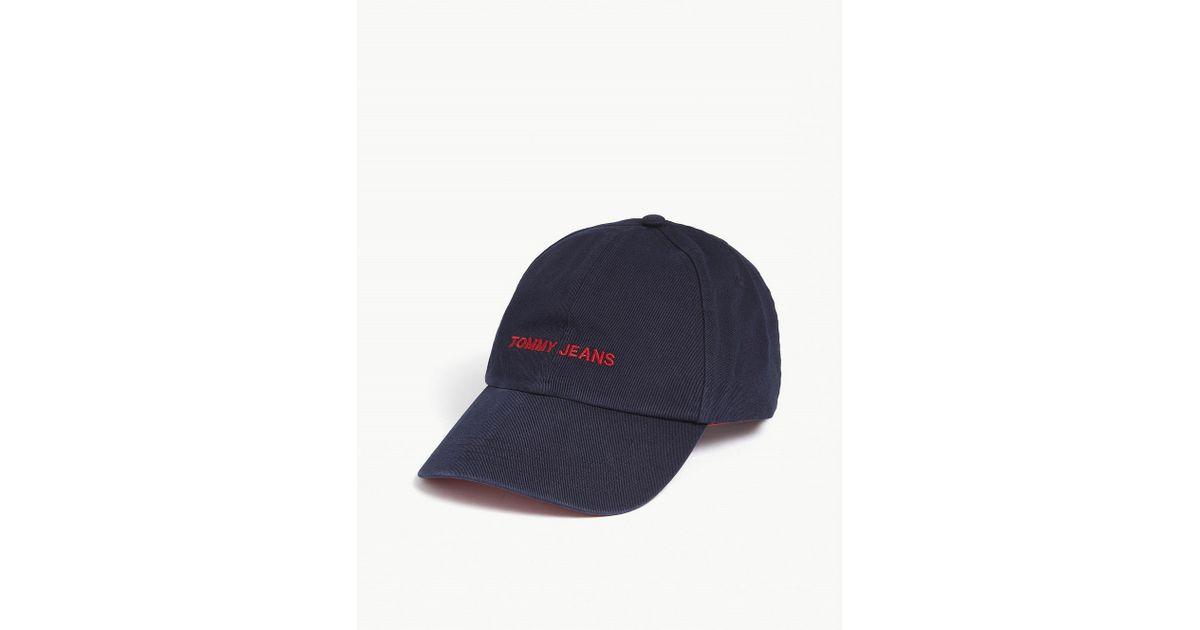 b0c0ed082d2 Lyst - Tommy Hilfiger Tommy Jeans Cotton Sport Snapback Cap in Blue for Men