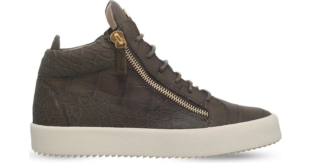 Giuseppe Zanotti Crocodile embossed Kriss sneakers a7PRk