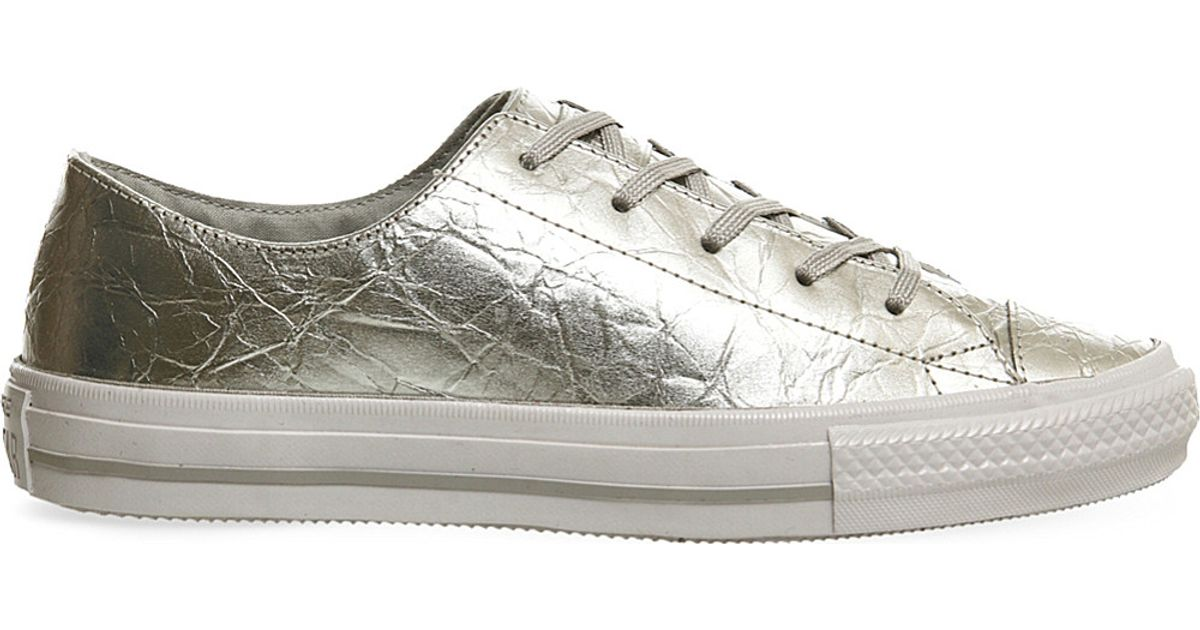 e22327de011c Converse Gemma Chuck Taylor Low-top Metallic Trainers in Metallic - Lyst