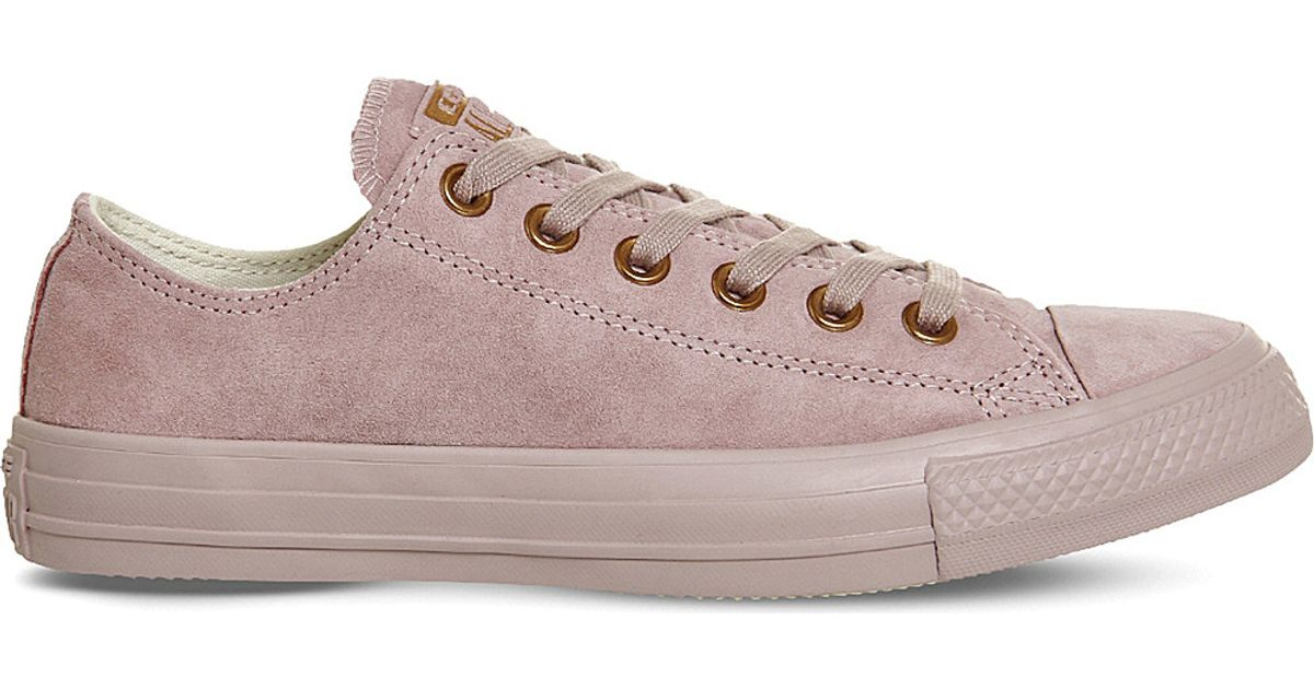 converse all star suede low top sneakers in pink lyst