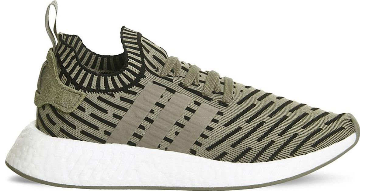 369892b01a45 Lyst - adidas Originals Nmd R1 Mesh And Rubber Trainers in Green for Men