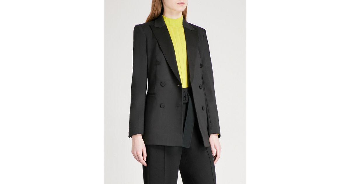 de0a56c2a334 Lyst - Theory Tux Wool-blend Tuxedo Jacket in Black