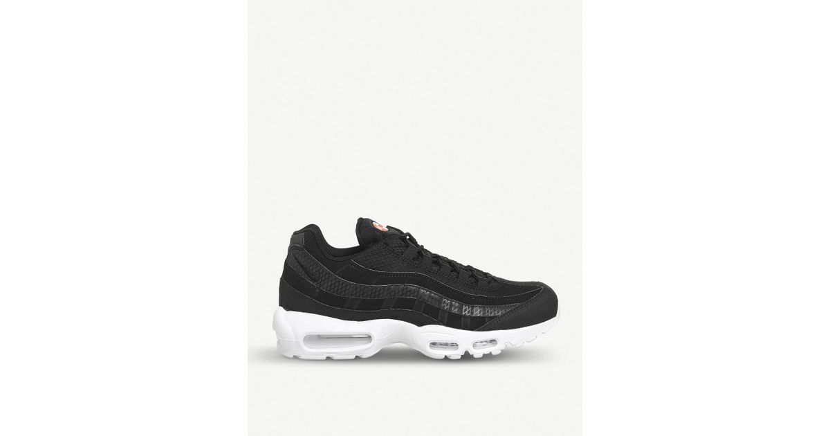 a61024cc61 Nike Air Max 95 Faux-leather Trainers in Black for Men - Lyst