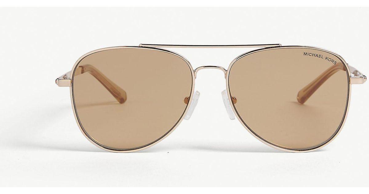 44dd771a0b59 Lyst - Michael Kors Mk1045 San Diego Aviator Sunglasses in Metallic for Men